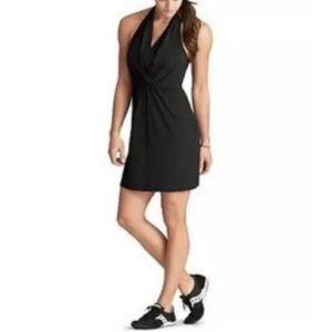 Black Go Anywhere Halter Dress